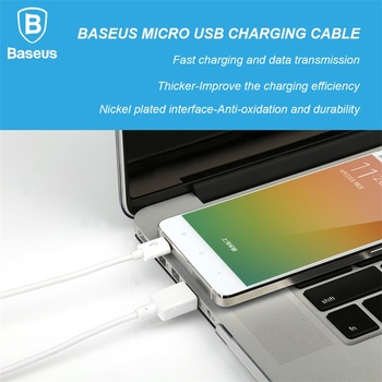 Baseus Micro USB Cable For Samsung Galaxy Huawei Xiaomi Meizu HTC Nokia Sony LG Data Sync Charge Cable Fast USB Charger Cable 1M