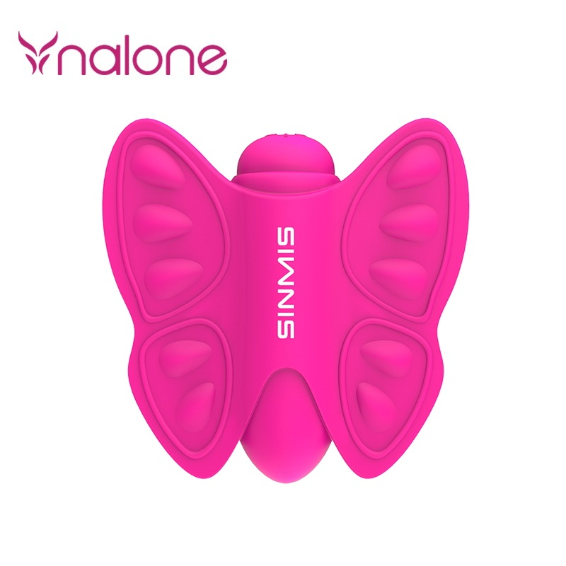 Pink Silcone Sex Products 20 Speed Butterfly Dildo Vibrating Vibrator Strapon on Sex Toy for Women 100% waterproof vibrator sex<br>