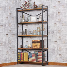 Factory direct American retro wood wrought iron shelves Cabinets Cabinets Shelves bookshelves 20151(China)