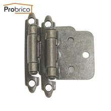 Probrico Wholesale 100 Pair Self Close Antique Bronze Kitchen Cabinet Hinge CH197AB Furniture Concealed Cupboard Door Hinge