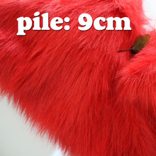 "Red Solid Shaggy Faux Fur Fabric (long Pile fur)  Costumes  Cosplay Cloth  36""x60"" Sold By The Yard  Free Shipping"