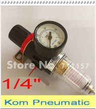 "AFR2000 1/4 Inch Source Treatment Unit 1/4"" Pneumatic Air Filter Regulator Two Union With Pressure Gauge AFR 2000"