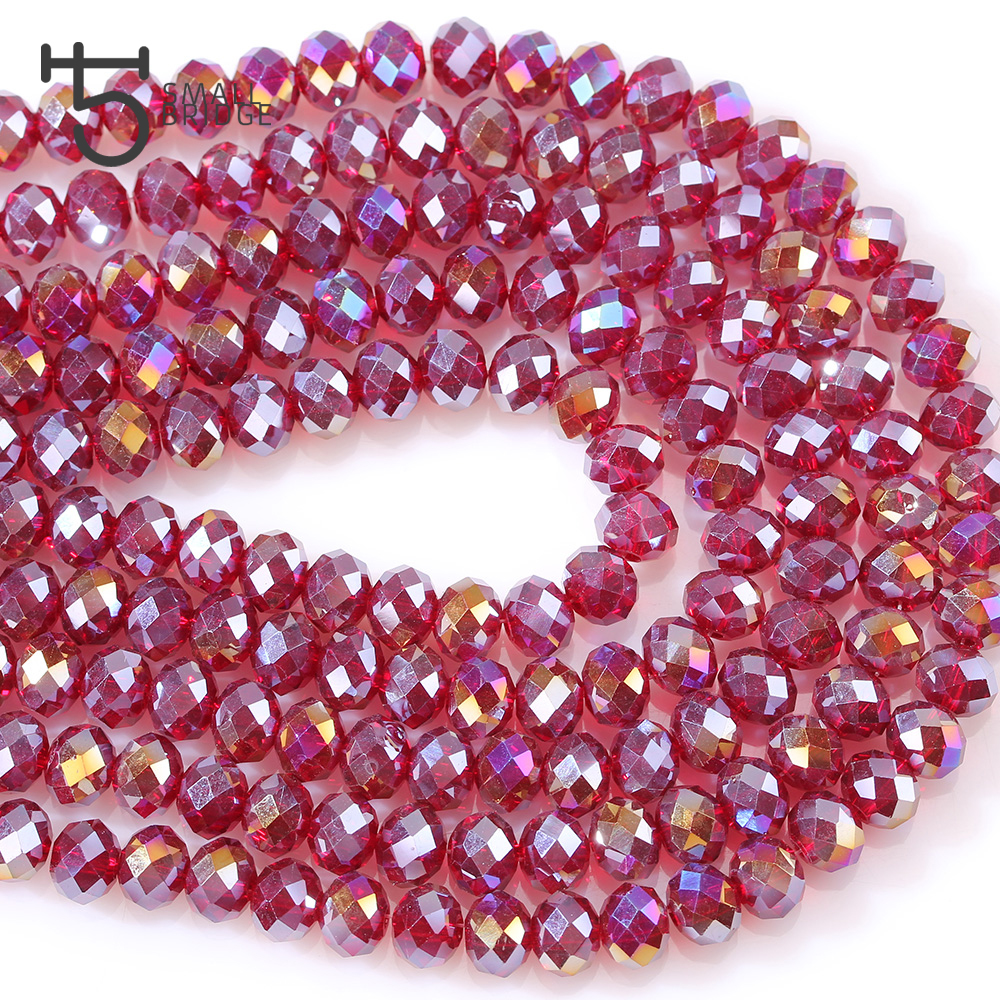 Rondelle Faceted Beads (6)