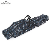 1.2/1.3/1.5m Canvas Fishing Bag Outdoor Multifunctional Folding Fishing Rod Lines Lure Storage Bag Case Fishing Tackle Bag Pesca