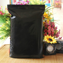DHL 24*36cm 200Pcs/ Lot Dark Black Lucifugal Essential Oil Zipper Pack Pouch Self Seal Opaque Water Proof Soft Poly Storage Bags