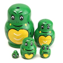 Funny Lovely Cute 5Pcs/set Wooden Russian Dolls Nesting Babushka Matryoshka Hand Paint Doll Toys Gift For Children Adult