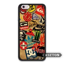 Skateboard Moto GP Racing Sticker Boom Case For iPhone 7 6 6s Plus 5 5s SE 5c 4 4s and For iPod 5