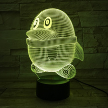Penguin 3D Light LED Lampara Colors Chageable Nightlight Methacrylate Crafts Kids USB Table Lamp christmas decorations for home
