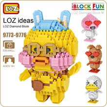 LOZ Building Blocks Figures Diamond Blocks Cute Animals Cartoon Pixels Duck Dog Plastic Assembly Toys Mirco Bricks DIY 9773-9776