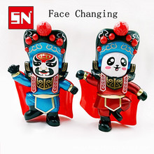 12.5cm*9cm 2 color Chinese tranditional culture Face-changing in Sichuan Opera doll change face/face off children gift baby toys(China)