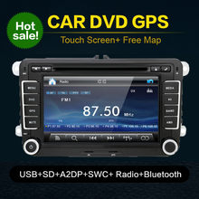Autoradio 2 Din Car DVD For VW Navigation For Volkswagen GOLF 4 GOLF 5 6 POLO PASSATCC JETTA TIGUAN TOURAN SCIROCCO T5 with GPS(China)