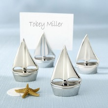 "100pcs/Lot+Cheap Wedding Favors ""Shining Sails"" Silver Sailboat Place Card Holder Wedding Table Decoration Gift+FREE SHIPPING"