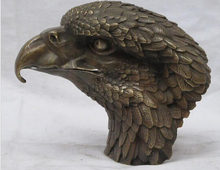 "SUIRONG---516+++8""CHINESE China Sino fengshui Bronze Lucky Animals Birds Hawk Eagle statue"