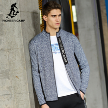 Pioneer Camp New jacket coat men brand clothing fashion zipper outerwear jacket men top quality stretch coat male AJK705085(China)