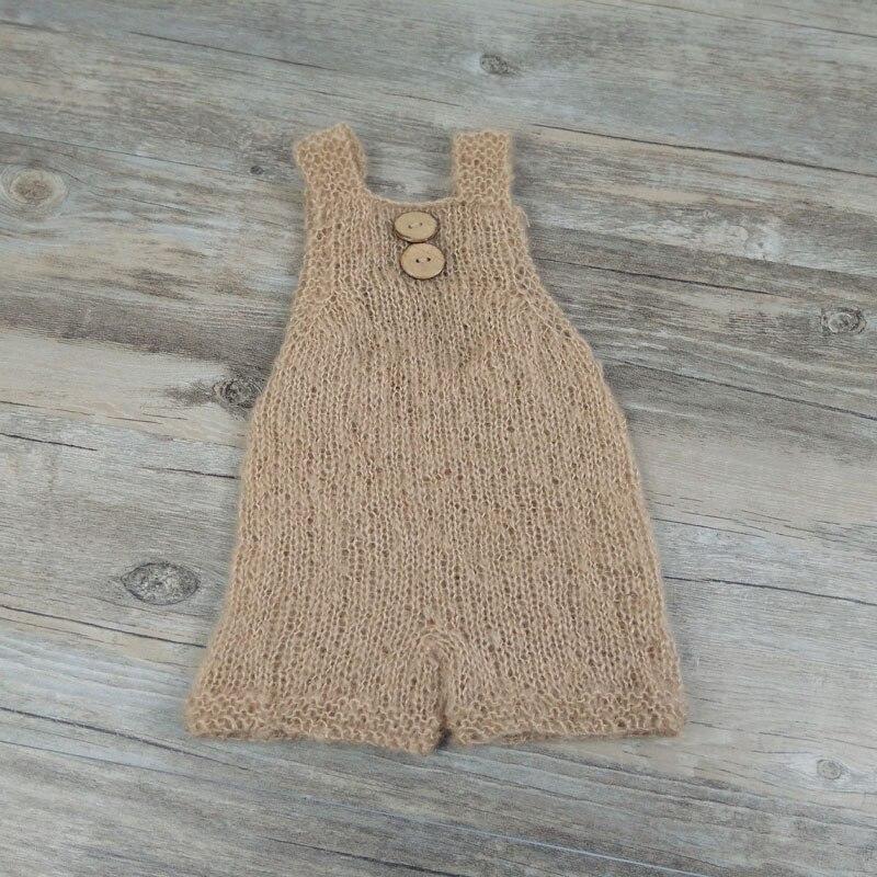 handmade knit buttons romper