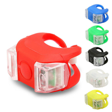 New Waterproof Silicone Mountain Bike Cycling Light Front Rear Tail Lamp Flash Light Bicycle Handlebar Frame Wheel Warning Light
