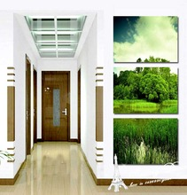 Modern HD Images Fashion New Design Realist Canvas Art Painting Beauty Lake For Traveling Green Plants For Best Room