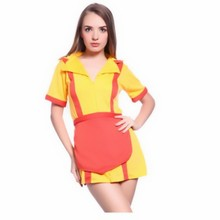 New Hot TV 2 Broke Girls Fancy Dress Ladies Womens Costumes Party Restaurant Uniforms Dress Cosplay Costume