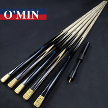 2017 Handmade Custom O'min One Piece Snooker Cue Victory Model 9.8mm Tip Snooker Cues Case Set China
