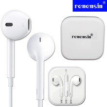 Renensin warranty Genuine Earpods Original Mobile phone Earphone in-Ear Earpod earphones For iPhone 5 5S 5C 6 6 plus 6S IOS