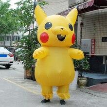 Child Christmas Carnaval Pikachu Inflatable Costume Cosplay Spirit Dress Pokemon Costumes Mascot Halloween Costumes Kids