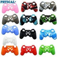 PHTICAL Silicone Skin for Playstation 3 PS3 Controller Grip Rubber Cover Protector Case Gaming Accessories 2PCS/Lot