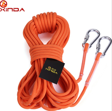 Xinda Abseiling Equipment Outdoor Rope For Climbing Cord Mountaineering Rope 10m Dia 9.5mm