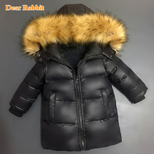 Boys big Fur Collar quilted waterproof kids winter warm snow light Duck Down Jackets For Cold Children Parkas Outerwear & Coats