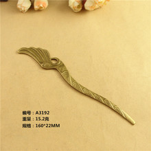 22*160MM Antique bronze big wings bookmark accessories handmade metal hair stick, DIY retro vintage bohemian hairpin jewelry