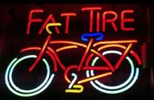 "Buy NEON SIGN RaRe Fat Tire Bike Signboard REAL GLASS BEER BAR PUB display Restaurant Shop Custom outdoor Light Signs 19*15"" for $187.00 in AliExpress store"