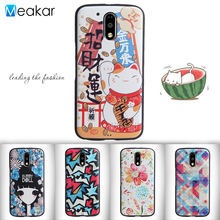 Relief Painted Pattern Soft Silicon 5.0for Moto G4 PLAY Case For Motorola Moto G4 PLAY Cell Phone Back Cover Case(China)