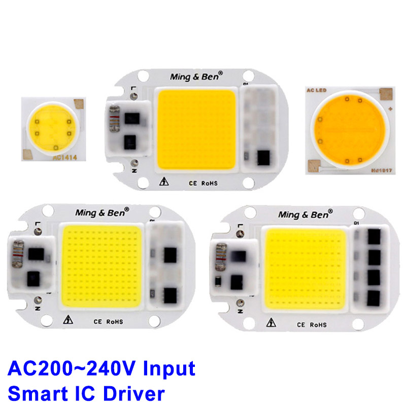 LED COB Chip 20W 30W 50W 3W 5W 7W 9W 12W 15W 18W 220V Smart IC Light High Lumen LED Lamp Chip DIY Floodlight Light Bulb Chip