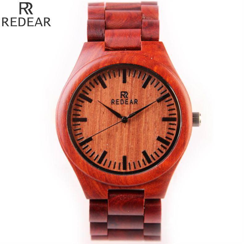 New Top Brand Watch Red Wood Watches Men Waterproof Luminous Clock Men Women Wooden Watch Relogio Feminino Masculino<br><br>Aliexpress