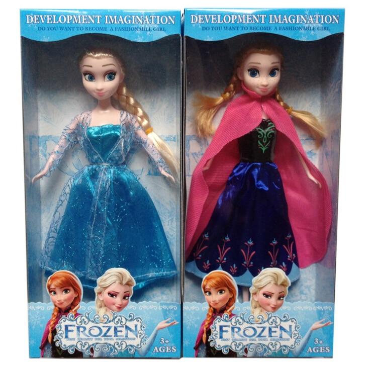 29cm New Anna Elsa Dolls Anna Elsa Princess Gifts For Girls Bonecas Princesa Elsa and Anna Queen toys for kids<br><br>Aliexpress