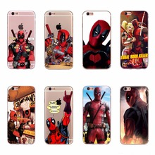Cool Deadpool Patterns Phone Bag TPU Silicone Phone Case For Apple iPhone 6 6s 5 5s SE 7 Cellphone Back Funda Coque Soft Covers