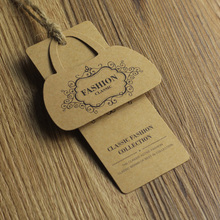 Custom kraft paper tags, classic jeans hang tags 1000pcs a lot factory price high quality