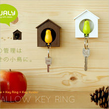 1set Whistling Key chain Rack key Hook key Hanger key ring storage Key Holder housekeeper valentine's day birthday gift LW0287(China)