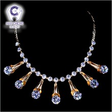 Golden Metal Icecream Reel Rhinestone Dazzle Clear White AAA Zircon Pendant Necklace Women Jewelry Figaro Chain Necklace Fashion(China)