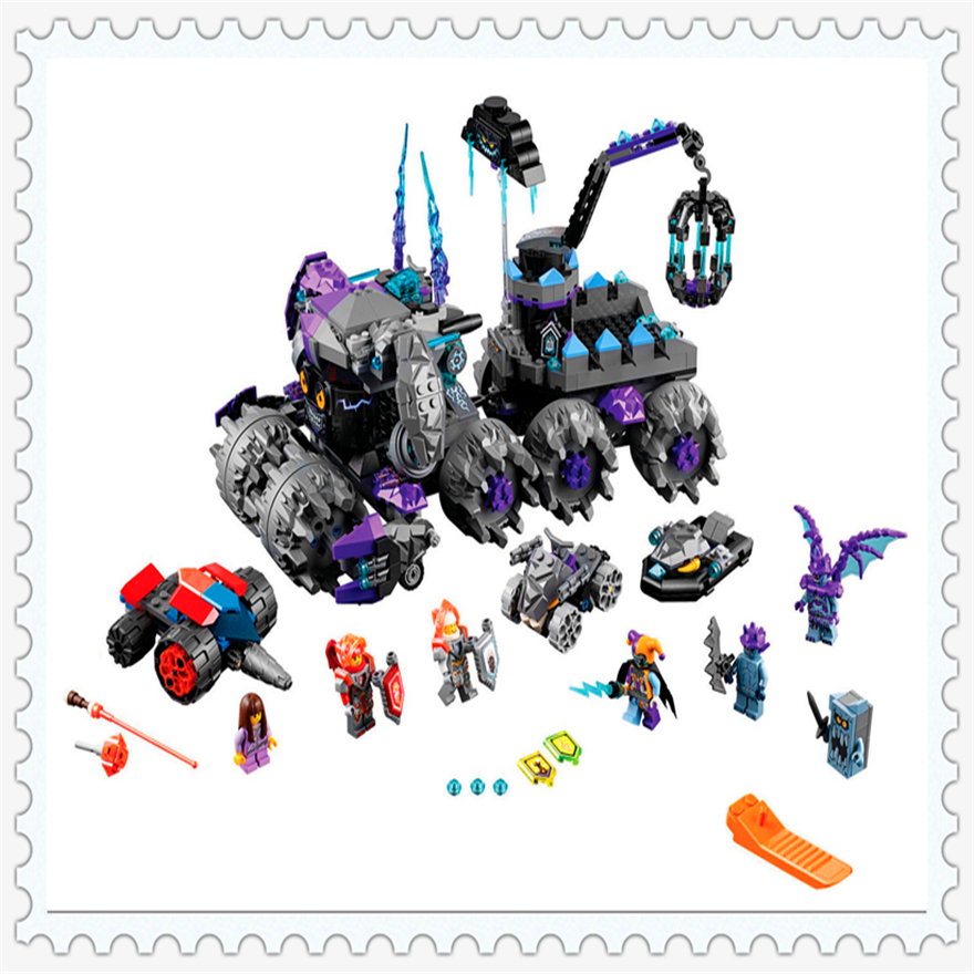 886Pcs Nexus Knights Jestros Monstrous Monster Vehicle Building Block Toys  Lepin 14031 Gift For Children Compatible Legoe<br>