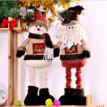 Retractable Santa Claus Snowman Large Christmas Dolls Xmas Tree Decent Ornaments Christmas Decorations Home New Year Gift