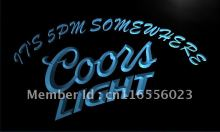LA097- Coors It's 5 pm Somewhere Bar LED Neon Light Sign home decor shop crafts(China)