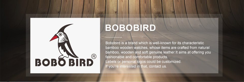 CnwinTech Bamboo Wood Watches Men Casual Clock - BOBO BIRD 18