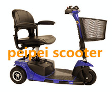 8 inch three wheels detachable foldable mobility scooter with Led light passed CE certification for handicapped PPSC1000-AA