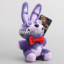 NEW Arrival Five Nights At Freddy's Bonnie Plush Toy Bonnie Bunny Stuffed Dolls 24 CM Easter Gift(China)