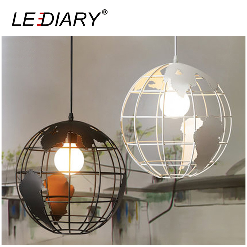 LEDIARY Earth Shape Iron LED Pendant Lamp 30CM 85-220V E27 Holder Art Hanging Lamp Droplight Vintage Light Dimmable Restaurant<br>
