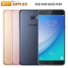 "Original Samsung Galaxy C7 Pro C7010 4GB RAM 64GB ROM Fingerprint Octa Core 3300mAh 16.0MP NFC Android 6.0 5.7""Smartphone(China)"