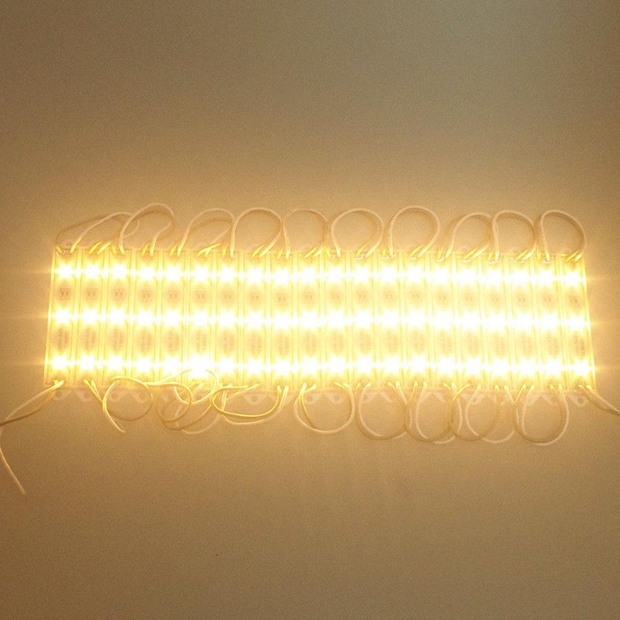 20PCS 3LEDs SMD 5050 LED Modules Light DC12V Waterproof Lamp Backlight for Billboard Advertising Light Warm White Red Green Blue (23)