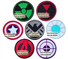 The Avenger Logos Embroidered Iron On Patches, Capain America Hulk Shield Ironman Thor Kids DIY Clothing Kids Accessories