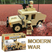 235pcs SWAT Morden War Army Military Transport Vehicle Humvee Armament Building Model Toys Decool 2111 Compatible with Lego