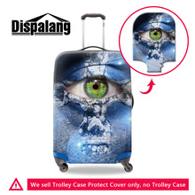 Dispalang eye print suitcase protective trunk cover newest funny creative design waterproof travel accessories luggage protector